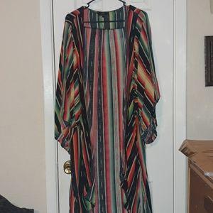 Sarape patterned kimono